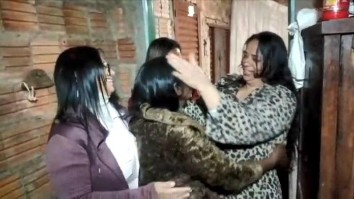 Simone saiu do ES e foi até o Mato Grosso do Sul para reencontrar a mãe, dona Nilsa