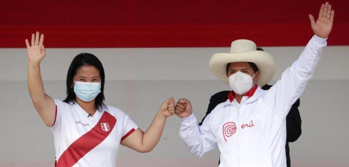 Keiko Fujimori e Pedro Castillo
