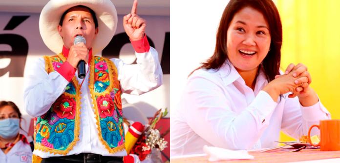 Pedro Castillo e Keiko Fujimori