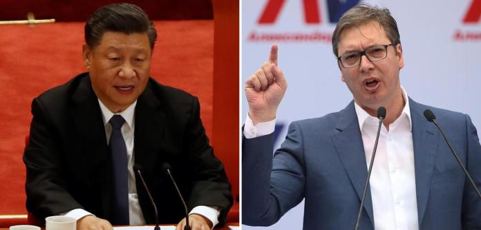 Xi Jinping e Aleksandar Vučić