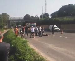 Homem morre degolado por linha de pipa em Vila Velha — Foto: Reprodução/Redes Sociais