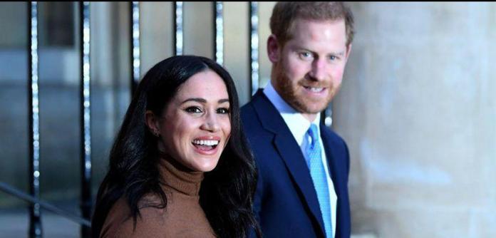 Príncipe Harry e sua esposa, Meghan Markle