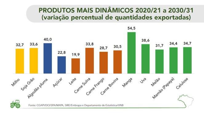 Produtos mais dinâmicos 2020/21 2030/31