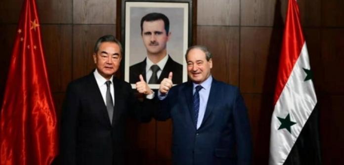 Os chanceleres da China e da Síria