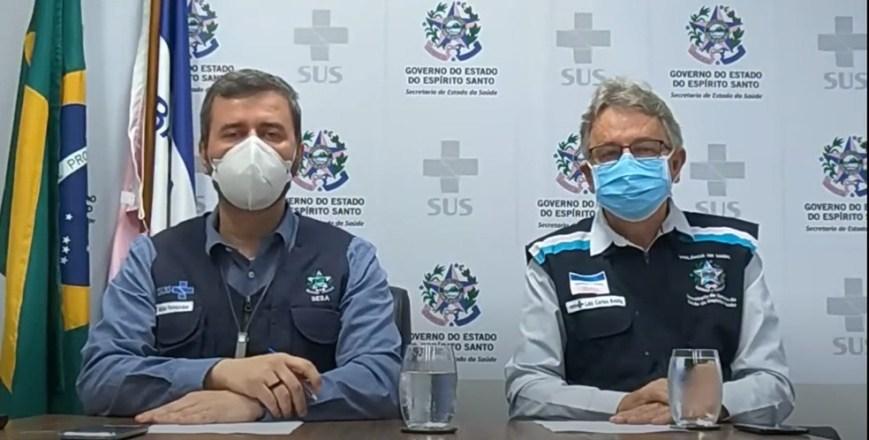 Secretaria Estadual de Saúde anunciou novidades sobre o combate à Covid-19 no ES — Foto: Reprodução/Sesa