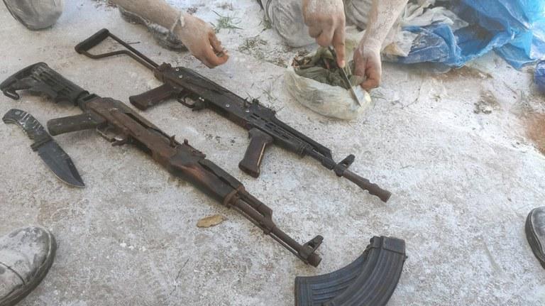 Força-Tarefa de Segurança Pública apreende armamento, munição e grande quantidade de droga
