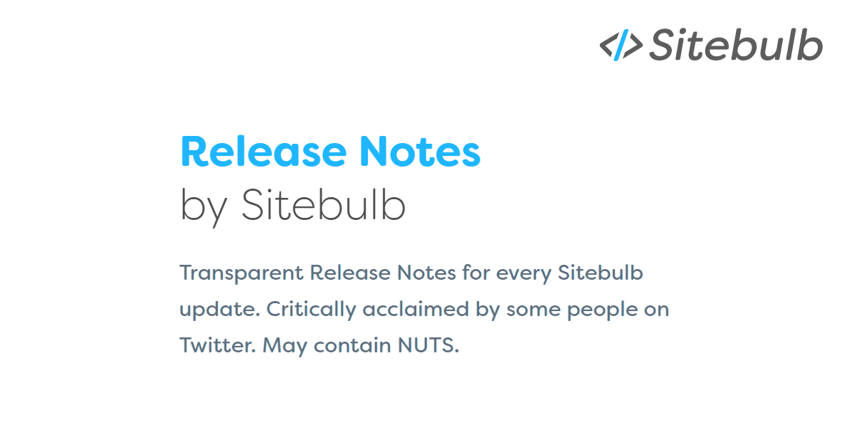 sitebulb latest updates and