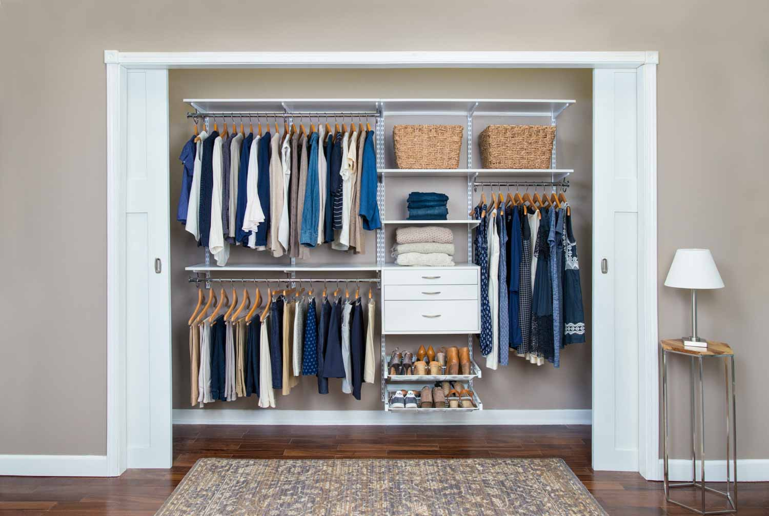 Organized Living  Bedroom Closets