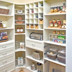 Kitchen Pantry Shelving Systems Corner Cupboard Ideas Organized Living Inspiration View Full Gallery 12 More