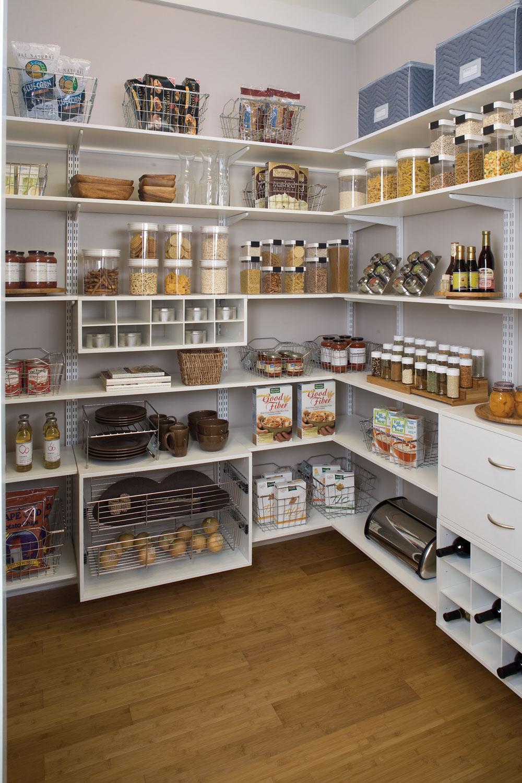 Organized Living   Pantry Shelving