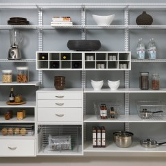 Kitchen Pantry Shelving Systems Tile Countertop Organized Living |