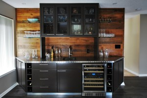 Siteline Wet Bar-Fleming Door Style-Black Fox Paint