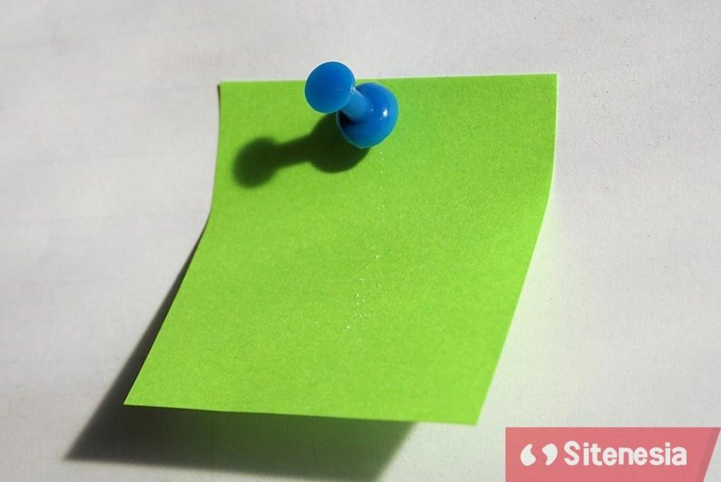 Ilustrasi Gambar Cara Menggunakan Catatan Kertas Tempel (Sticky Notes) Untuk Produktivitas