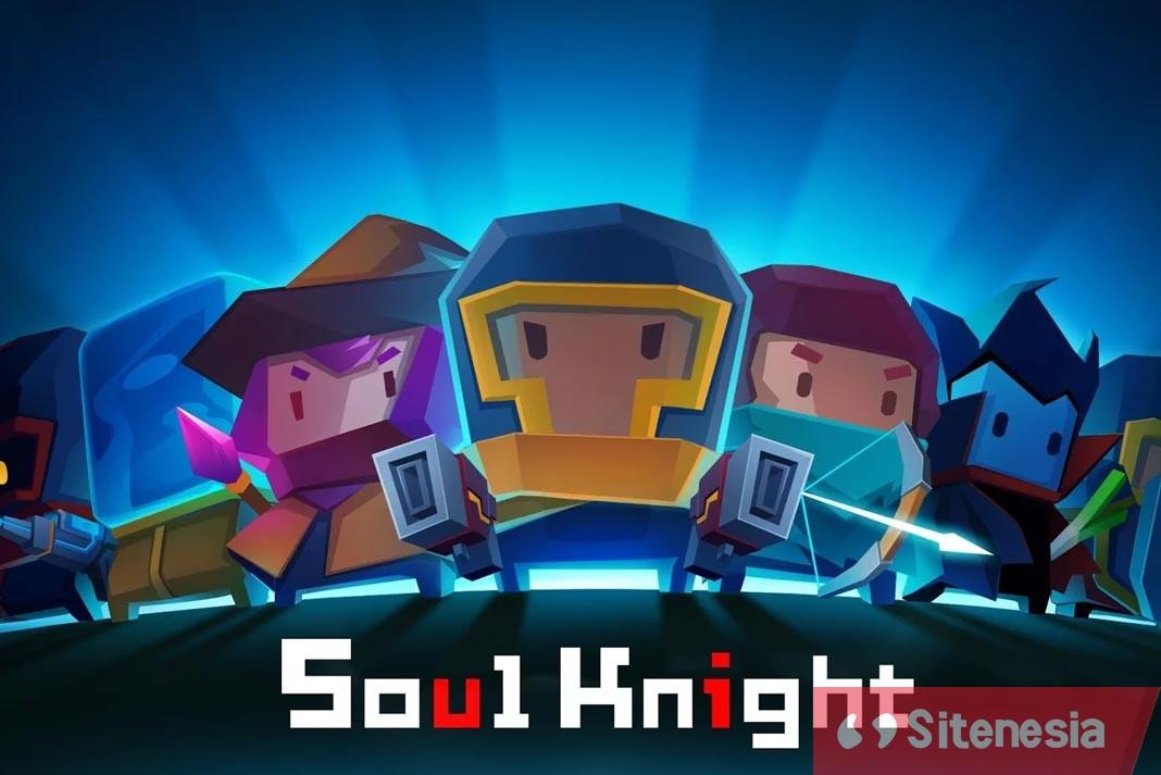 Gambar Cover Download Soul Knight MOD APK Versi Terbaru Unlimited Money Gems Characters Dan Skills Full Unlocked Gratis Untuk Android
