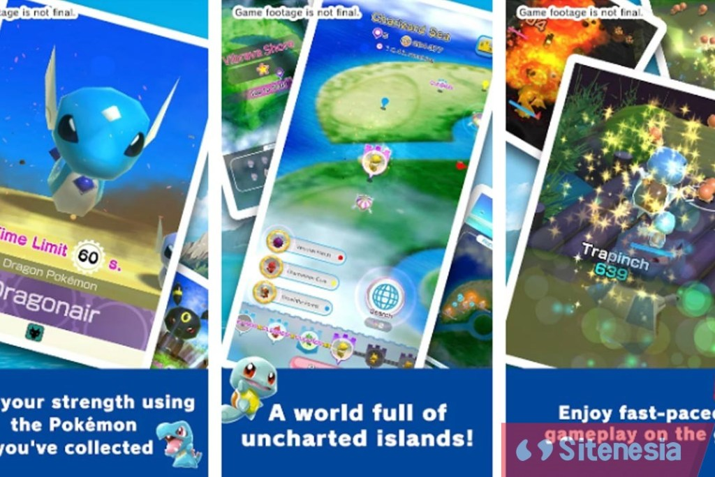 Gambar Screenshoot Gameplay Download Pokemon Rumble Rush MOD APK Versi Terbaru God Mode High Demage