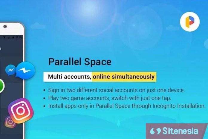 Ilustrasi Cover Screenshot Parallel Space Pro MOD APK Versi Terbaru Gratis