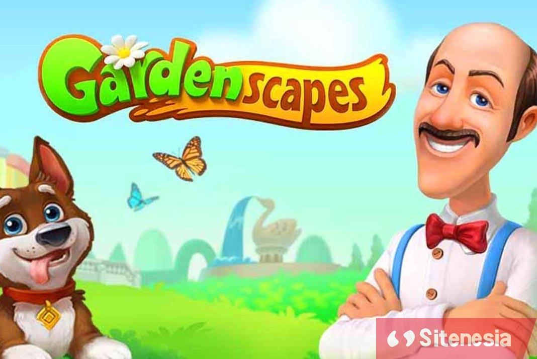 Gambar Cover Download Gardenscapes MOD APK Versi Terbaru Unlimited Coins Dan Stars Gratis Untuk Android