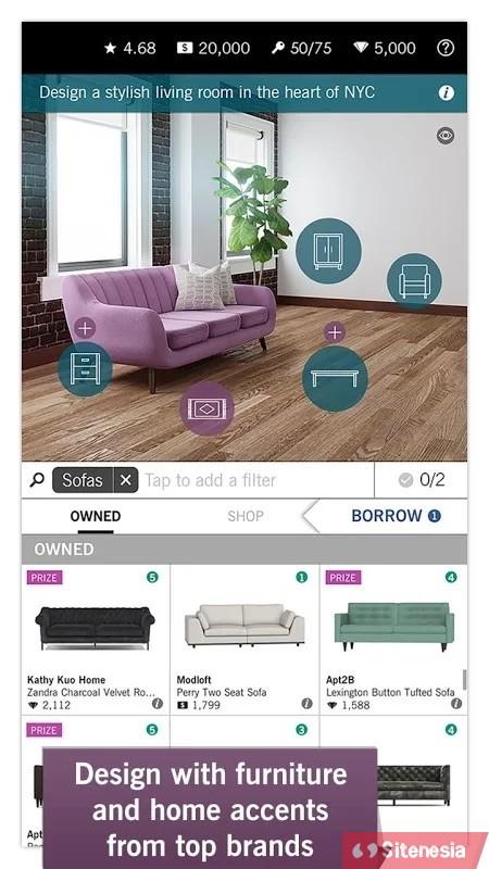 Gambar Gameplay Download Design Home MOD APK Versi Terbaru Unlimited Money Diamonds Dan Keys Gratis Untuk Android