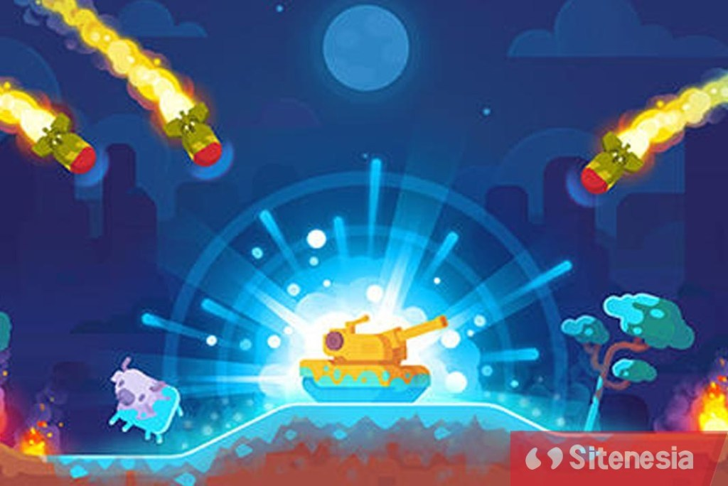 Gambar Gameplay Download Tank Stars MOD APK Versi Terbaru Unlimited Money Gratis Untuk Android