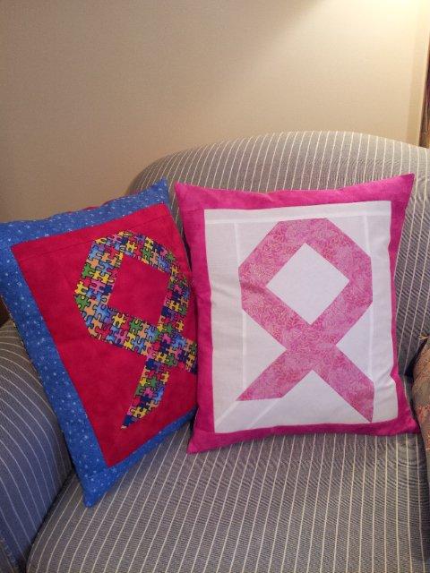 Brilliant Ribbon Pillows