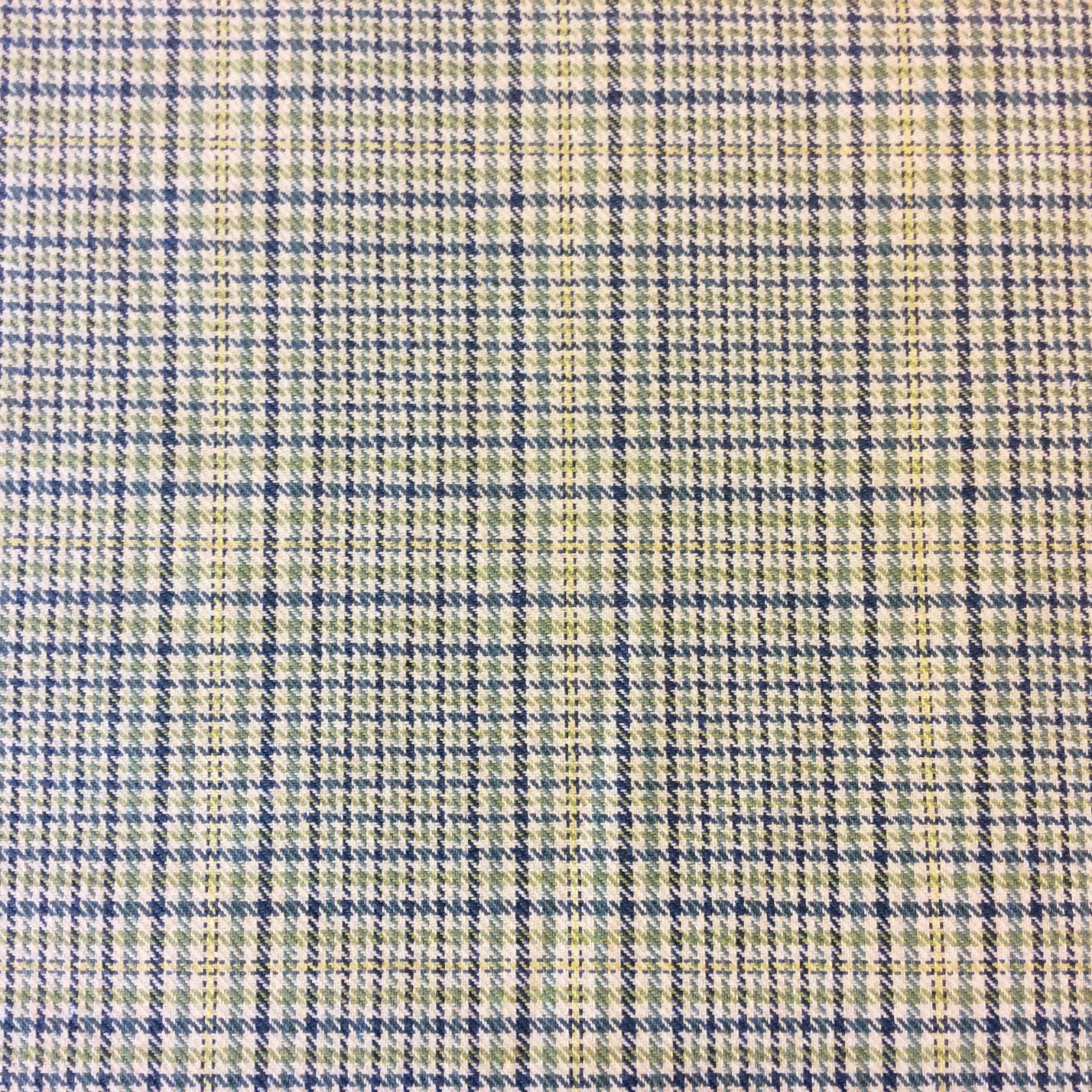 Plaid Classic Lagoon Houndstooth Plaid Geo Grid Upholstery Home