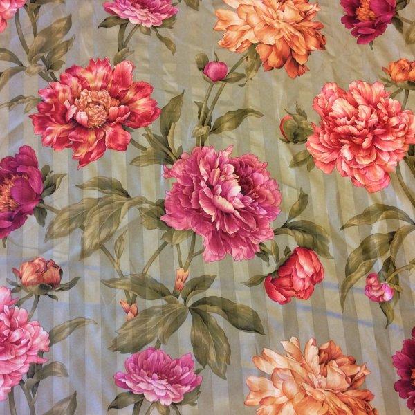 English Floral Chintz Fabric