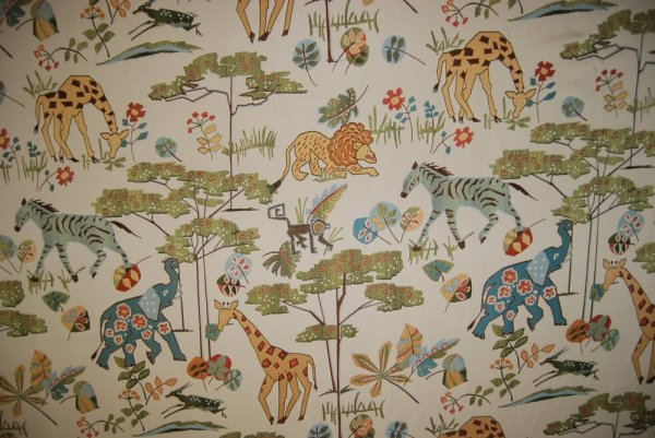 Jungle Tapestry Safari Animal Giraffe Elephant Zebra