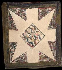 Diamond In Star Antique Hooked Rug