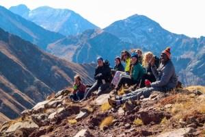 Students travel to Venable Lakes. Photo by Emilio Rodríguez Cáceres '17.