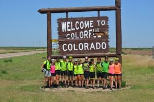 Biking through Colorado