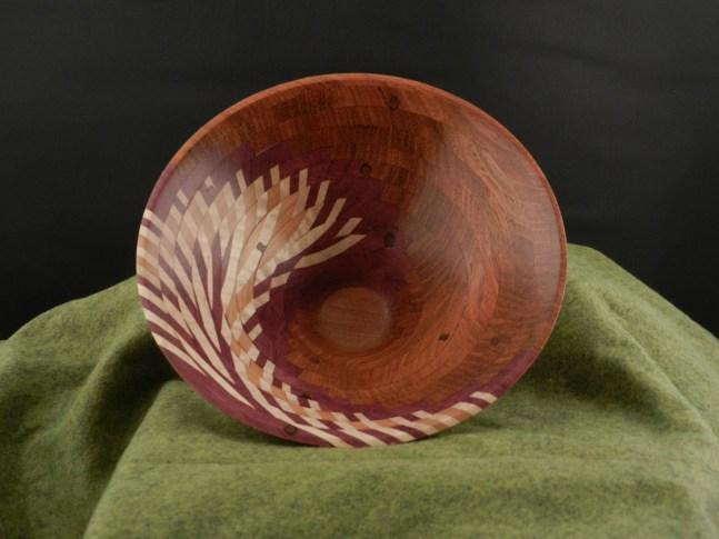 Cory Scott '13, Riverside, CA Feather Bowl Jatoba, Maple, Purpleheart