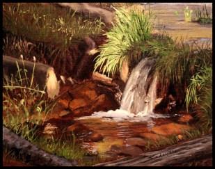 Susan Dare Schuchter '62, Loveland, COLight Catching Water, Oil