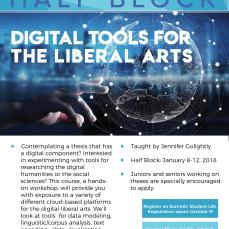 Digital Tools for the Liberal Arts Half Block