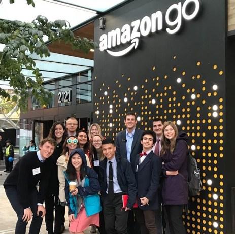 The Tiger Trek group at Amazon HQ