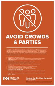 Avoid Crowds Safety Poster
