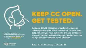 Keep CC Open, Get Tested   Graphic