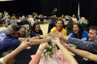 Admitted students and their parents are joined by current students, alumni, and staff for a dinner and welcome.