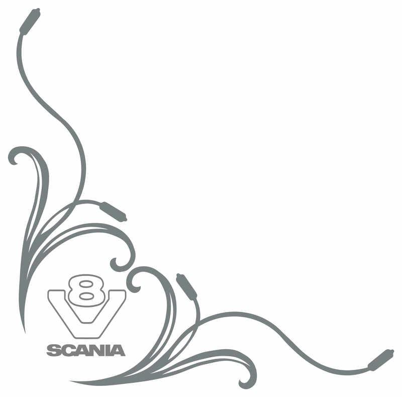 Scania V8 Truck Side Window Stickers