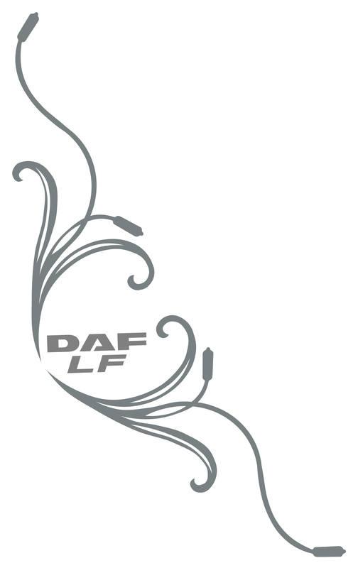 DAF LF Truck Side Window Stickers