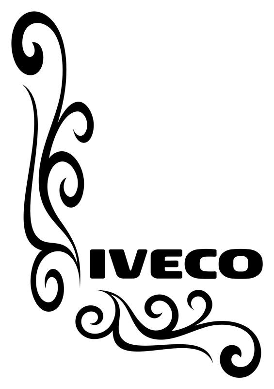 Iveco Stralis Truck Side Window Stickers
