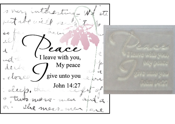 Christian Bible Verse Stamp Peace I Leave With You John 1427