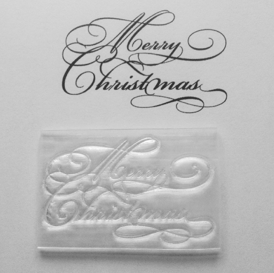 Merry Christmas Clear Stamp In Swirly Font