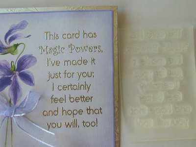 This Card Has Magic Powers Get Well Verse Stamp