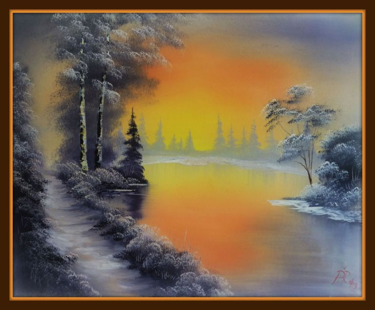 Bob Ross oil painting classes. Learn to paint step by step ...