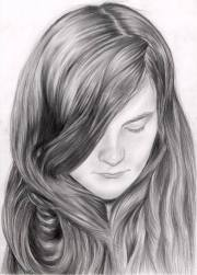 portrait of girl with long hair