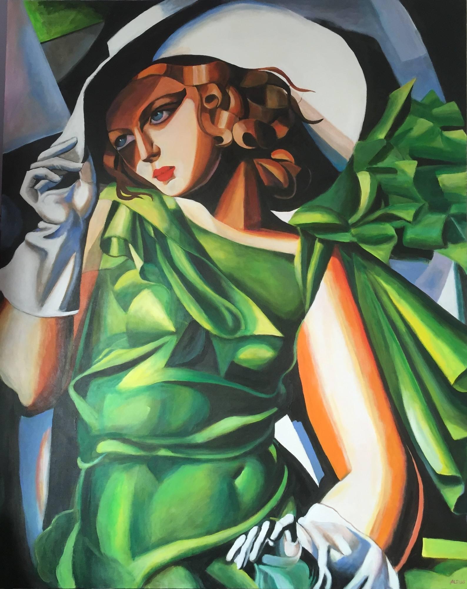 Tamara De Lempicka Art Deco Painting