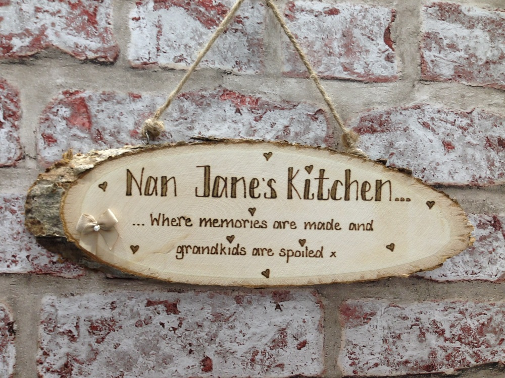 kitchen plaques hanging rack personalised wooden plaque nan grandma auntie