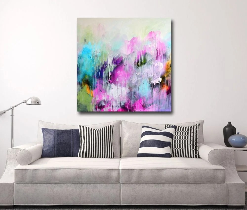 Print Of Large Abstract Painting Giclee Wall Art