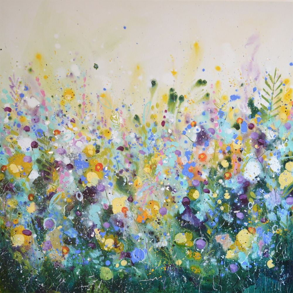 Large Abstract Floral Painting Original Modern