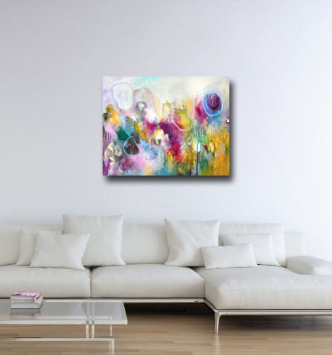 balloons large abstract canvas